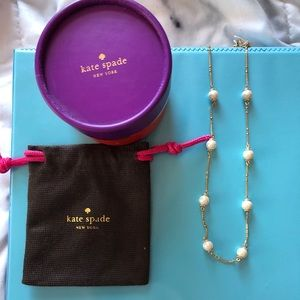 Kate Spade pearl and gold plated necklace
